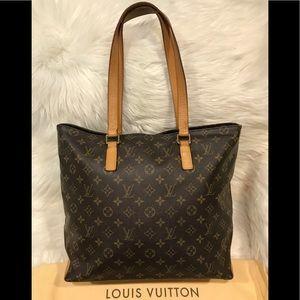 Authentic Louis Vuitton Cabas Mezzo #3.3K